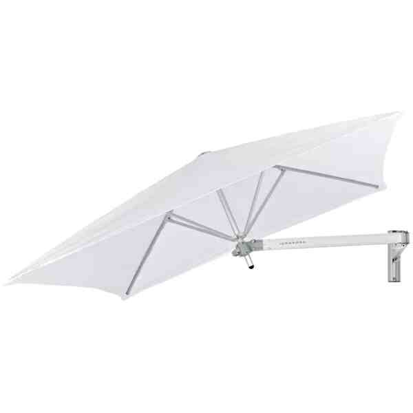 Paraflex Wall mounted umbrella | Square 1.9 m | Natural | Classic Arm